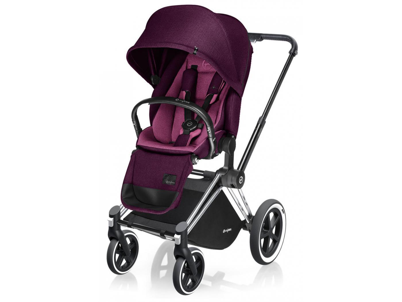 poussette priam chrome luxe mystic pink purple roues. Black Bedroom Furniture Sets. Home Design Ideas