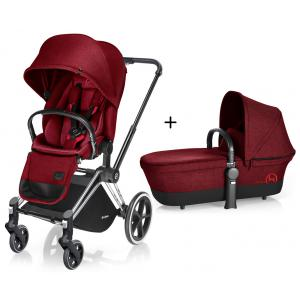 Cybex - BU63 - Poussette Priam Chrome LUXE Complète  Infra Red - red roues light (352370)