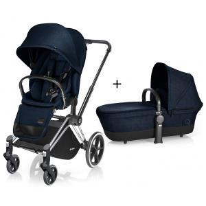 Cybex - BU64 - Poussette Priam Chrome LUXE Complète  Midnight Blue - navy blue roues light (352372)