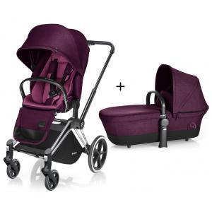 Cybex - BU67 - Poussette Priam Chrome LUXE Complète  Mystic Pink - purple roues light (352378)