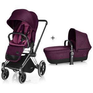 Cybex - BU74 - Poussette Priam Chrome LUXE Complète  Mystic Pink - purple roues trekking (mixte) (352392)