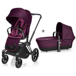 Cybex - BU95 - Poussette Priam Matt Black LUXE Complète  Mystic Pink - purple roues trekking (mixte) (352434)