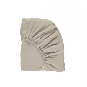 Camomile London - SMALLCOT-FS-0KG - drap housse imprimé Keiko gris clair /bleu 60x120 cm (353182)