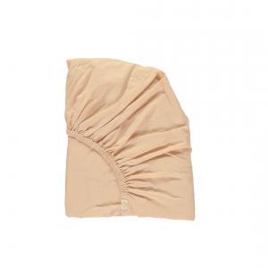 Camomile London - SMALL-COT-FS-0KP - drap housse imprimé Keiko pêche/rose 60x120 cm (353186)