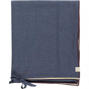 Camomile London - C02-1SCN - Housse de couette imprimée Petits Carreaux navy/ivoire 120x150 cm (353202)