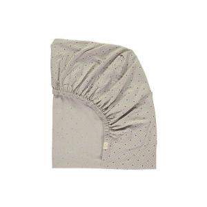 Camomile London - SMALL-COT-FS-0SG - drap housse gris clair 60x120 cm (353216)