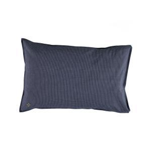 Camomile London - C06-2SCN - taie d'oreiller imprimée Petits Carreaux navy/ivoire 75x50 cm (353224)