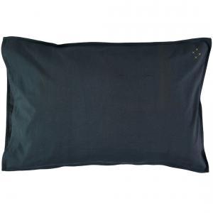 Camomile London - C07-1INK - Taie d'oreiller bleu encre - 75 x 50 cm (353232)