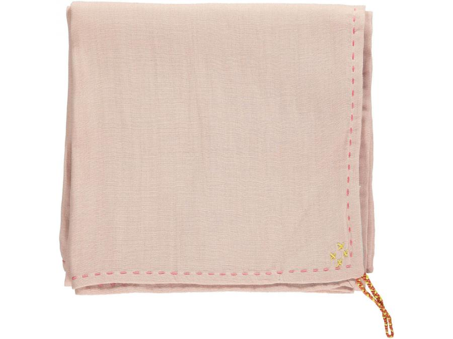 camomile london couverture l g re bicolore brod e main rose aqua. Black Bedroom Furniture Sets. Home Design Ideas
