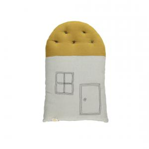 Camomile London - C17AG - coussin House 38cm aqua - ocre (353272)