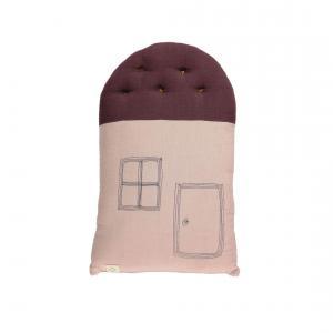 Camomile London - C17PW - coussin House 38cm rose - aubergine (353274)