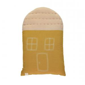Camomile London - C20GP - coussin House 47cm ocre - rose (353278)