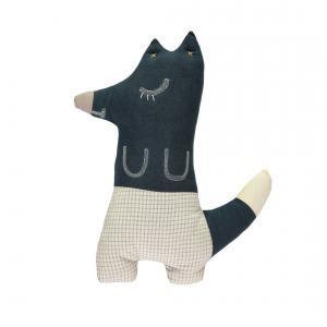 Camomile London - C30INK - coussin Foxy 29 cm encre - double petits carreaux (353292)