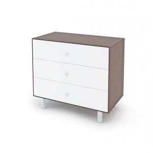 Oeuf NYC  - BU34 - Commode Merlin 3 tiroirs base CLASSIC noyer (353358)
