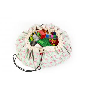 Play and Go - 79976 - Sac de rangement flamants rose/vert (353502)