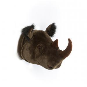 Wild and Soft - WS0030 - Trophée en peluche Michael le rhinocéros (353534)