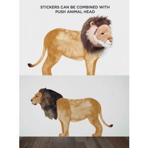 Wild and Soft - WS4001 - Sticker mural lion (353608)