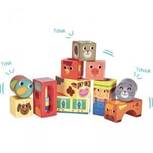 Vilac - 2102 - Cubes sonores de la Ferme - à partir de 18m (353700)