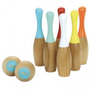 Vilac - 4033S - 6 quilles bowling bicolores - à partir de 5+ - Origine France (353754)