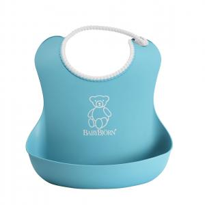 Babybjorn - 046213 - Bavoir Souple Turquoise (354180)