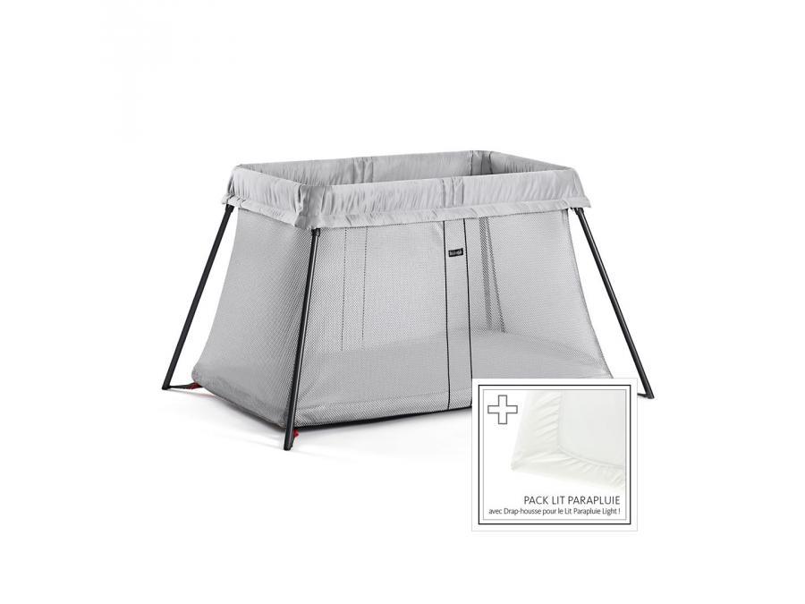 lit parapluie argent drap housse. Black Bedroom Furniture Sets. Home Design Ideas