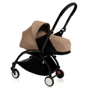 Babyzen - BU078 - Nouvelle poussette Babyzen Yoyo plus cadre noir pack naissance taupe (354698)