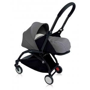 Babyzen - BU075 - Nouvelle poussette Babyzen Yoyo plus cadre noir pack naissance gris (354704)