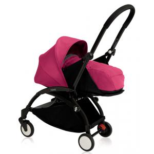 Babyzen - BU074 - Nouvelle poussette Babyzen Yoyo plus cadre noir pack naissance rose (354706)