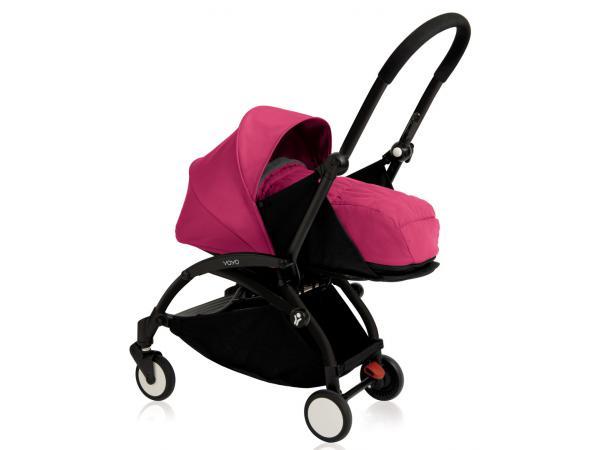 Nouvelle poussette babyzen yoyo plus cadre noir pack naissance rose a7df91c98c9