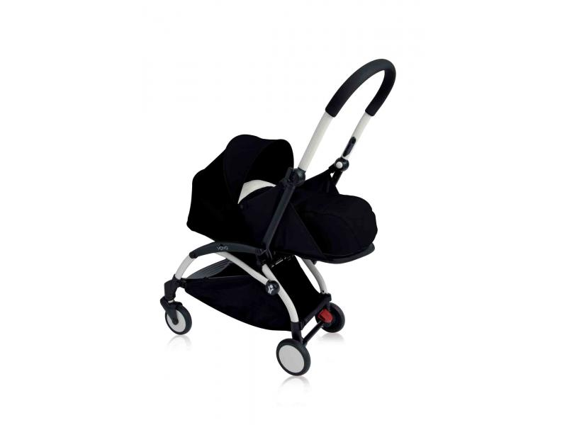 nouvelle poussette babyzen yoyo plus cadre blanc pack naissance noir. Black Bedroom Furniture Sets. Home Design Ideas