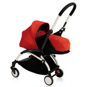 Babyzen - BU068 - Poussette Yoyo+ cadre blanc pack naissance rouge (354718)