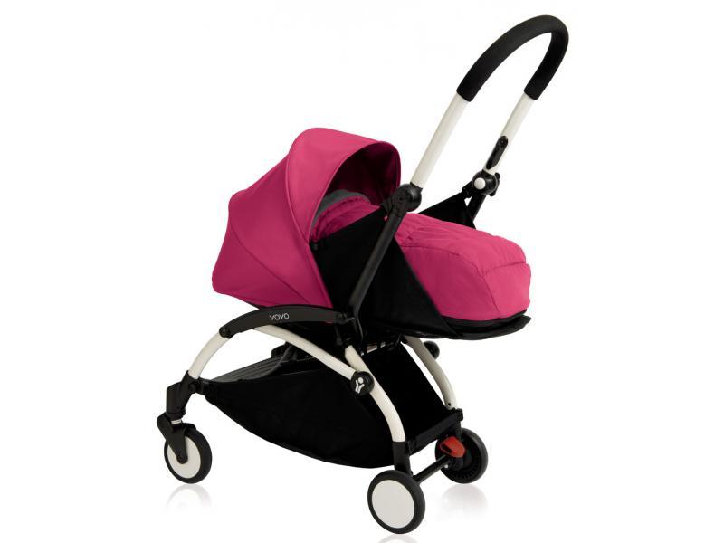 nouvelle poussette babyzen yoyo plus cadre blanc pack naissance rose. Black Bedroom Furniture Sets. Home Design Ideas