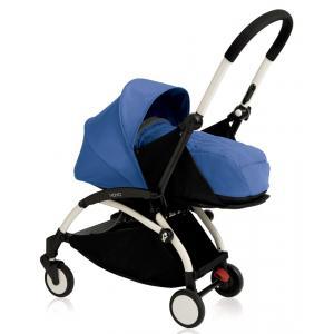 Babyzen - BU065 - Nouvelle poussette Babyzen Yoyo plus cadre blanc et nacelle bleue pour la naissance (354728)