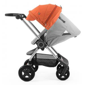 Stokke - BU39 - Poussette  Scoot(TM)  Gris Melange capote Orange (354734)
