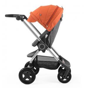 Stokke - BU25 - Poussette  Scoot(TM)  Noir Melange capote Orange (354758)