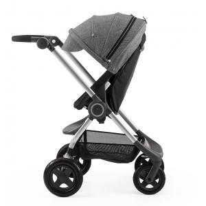 Stokke - BU29 - Poussette  Scoot(TM)  Noire capote Noir melange (354766)