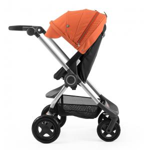 Stokke - BU32 - Poussette  Scoot(TM)  Noire capote Orange (354772)