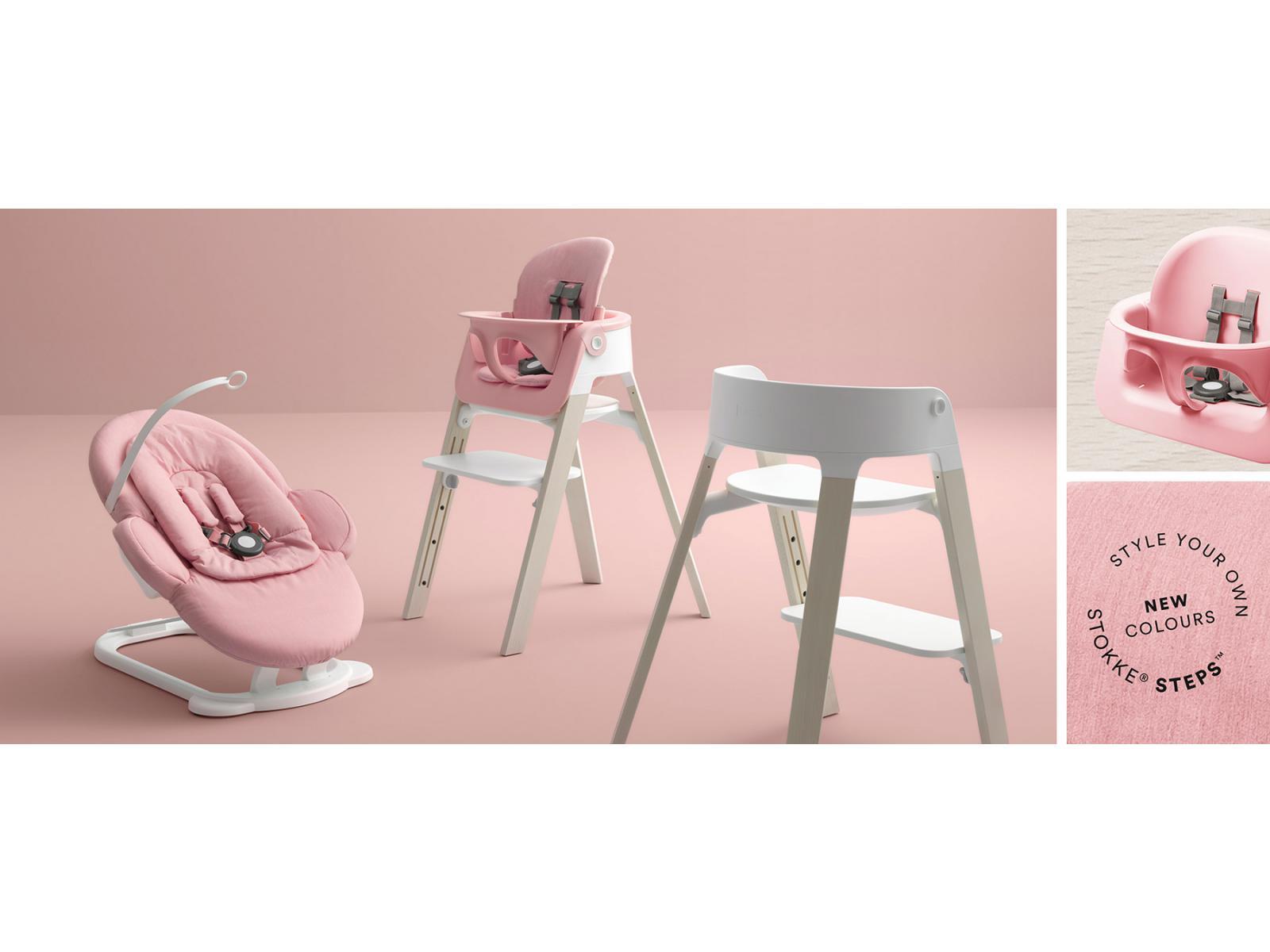 Chaise STEPS assise blanche pieds en bois de hetre Noyer*
