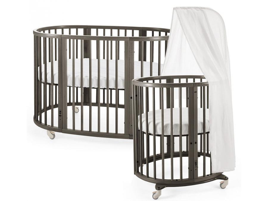 lit sleepi evolutif 0 4 ans gris brume. Black Bedroom Furniture Sets. Home Design Ideas