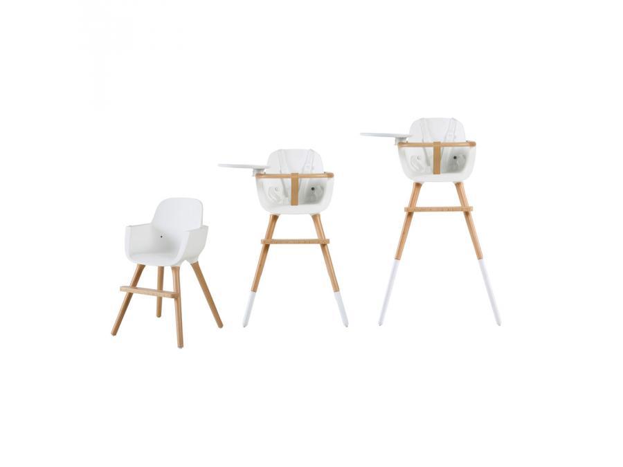 micuna chaise haute plateau et harnais inclus couleur blanc. Black Bedroom Furniture Sets. Home Design Ideas