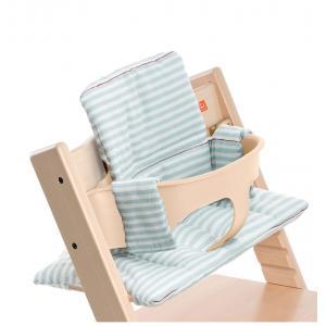 Stokke - 100342 - Coussin Rayures aqua (enduit) pour chaise Tripp Trapp (356610)