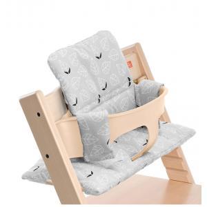 Stokke - 100341 - Coussin Feuilles grises (enduit) pour chaise Tripp Trapp (356612)
