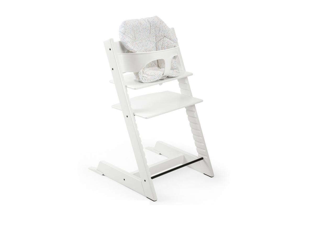 Stokke coussin mini pois couleurs douces pour chaise tripp trapp for Chaise stokke