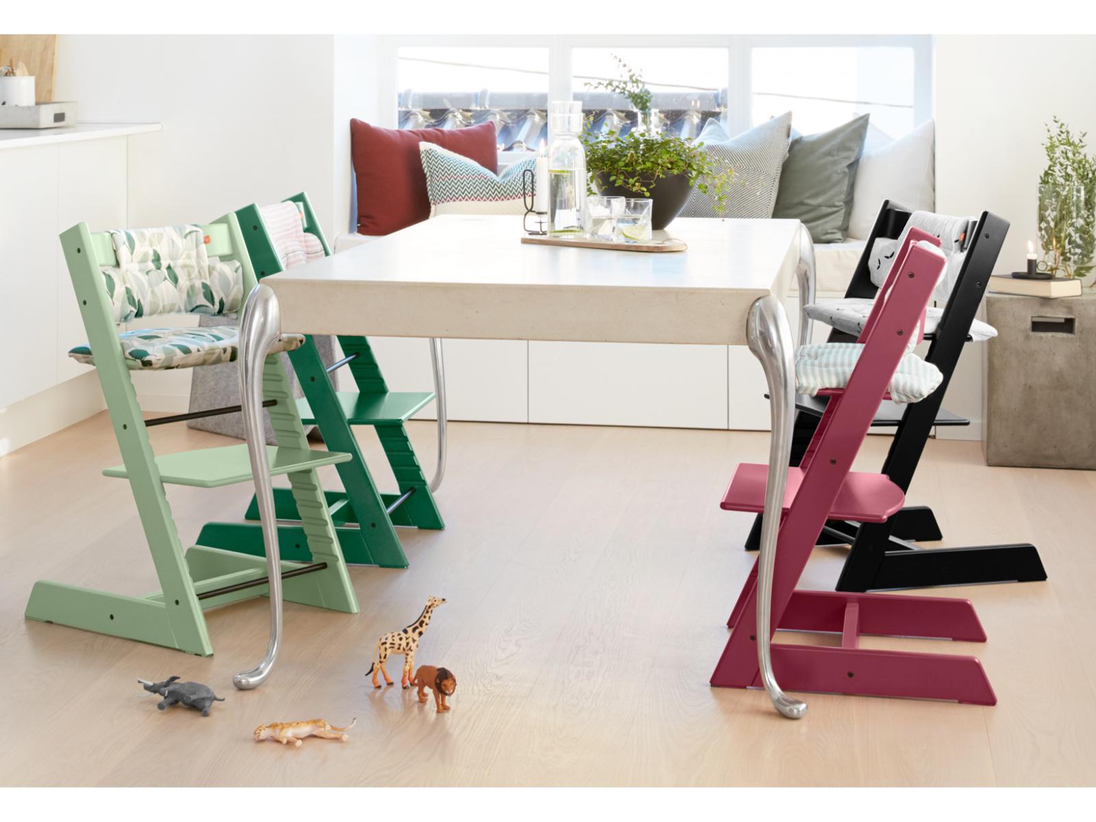 Stokke chaise haute tripp trapp vert for t for Chaise stokke