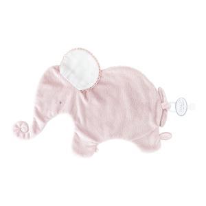 Dimpel - 884000 - Oscar Doudou éléphant attache tétine - 42 x 25 cm - ROSE-blanc (356906)