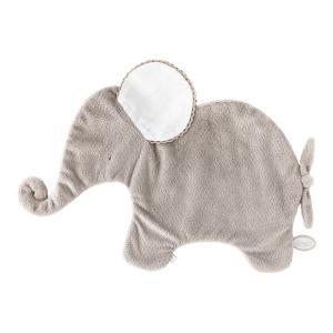 Dimpel - 884039 - Oscar doudou éléphant classique 42 cm - beige-gris et blanc (356912)