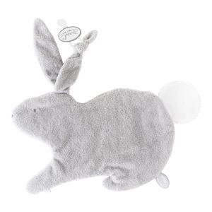 Dimpel - 884416 - Emma Doudou lapin attache tétine - 32 x 25 cm - GRIS-blanc (356924)