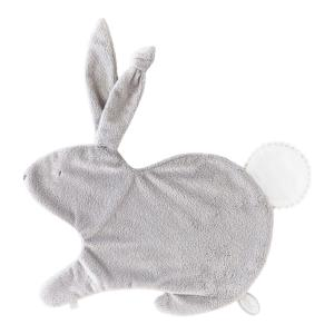 Dimpel - 884416 - Emma Doudou lapin attache tétine - 32 x 25 cm - Gris clair (356924)