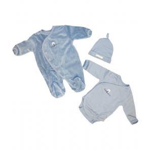Coton biologique - 31354-18159 - Coffret pyjama, body et bonnet bebe en coton bio ocean (357578)