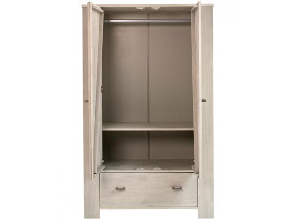Kids gallery armoire 2 portes 1 tiroir bois massif - Armoire enfant bois massif ...